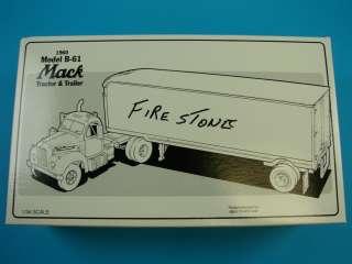 61 Semi Truck+61 FIRESTONE Trailer Coker Tire 19 1848 w/ Box