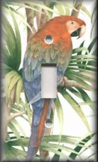 Switch Plate Cover   Bathroom Decor   Tropical Parrot Bird