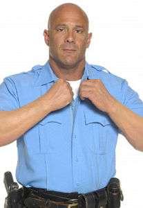 Elbeco Tex Trop Long Sleeve Uniform Shirt, Blue