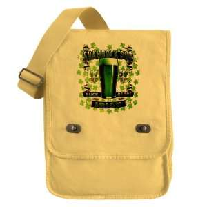 Messenger Field Bag Yellow Shamrock Pub Luck of the Irish