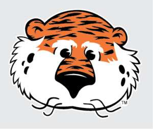 AUBURN TIGERS AUBIE Mascot decal sticker 4 AU truck