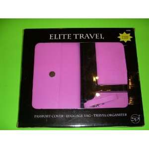 Travel PINK passport cover luggage tag travel organizer Office
