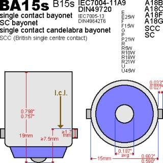 Audi A3 (8P) LED SMD White Tail Stop Light bulb globe BA15s