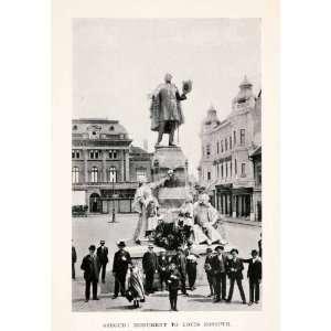 1907 Halftone Print Louis Kossuth Sculpture Monument