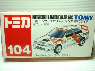 TOMICA MITSUBISHI LANCER EVOLUTION EVO IV WRC LIMITED TOY CAR