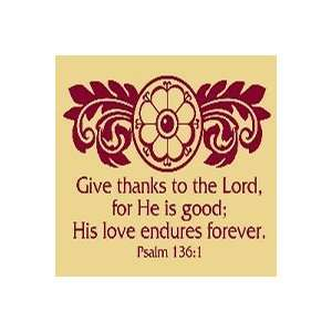 Dark Red Give Thanks Psalm 1361 Vinyl Wall Art Pet