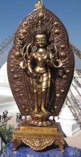 huge 28 master quality full gold Avalokiteshvara rupa nepal