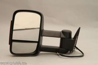 Passenger RH Right Turn Signal Power Tow Towing Trailer Mirror