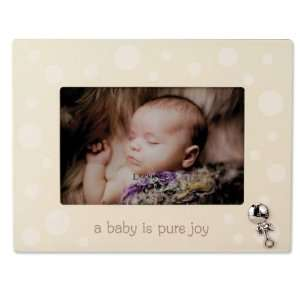 Lawrence Frames Beige And White Polka Dot 4x6 Picture Frame   Baby