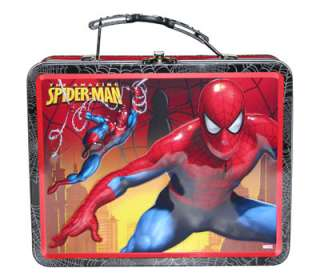 MARVEL Spider Man kids Card Toy Metal Tin Lunch Box Bag