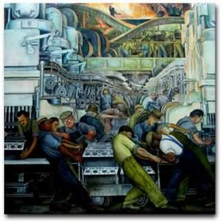 Artist Diego Rivera Mural Painting Reproduction   Detroit Industry