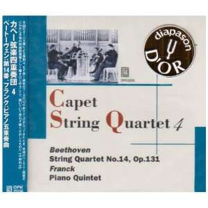 Quartet   Beethoven String Quartet No 14 op 131; Franck Piano Quintet