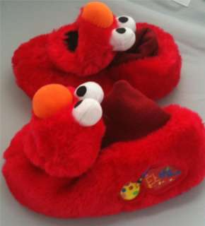 Toddler Baby Boys Sesame Street Elmo Furry Red Slipper House Shoes XL