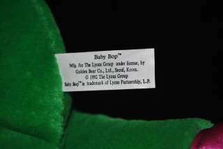 Barney BABY BOP Original Plush Stuffed Doll 1992 Lions Group 14 Green