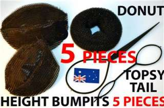 BUN DONUT VELCRO HEIGHT BUMPITS & TOPSY TAIL HAIR STYLING TOOLS