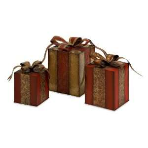 and Bronze Christmas Gift Box Table Top Decorations