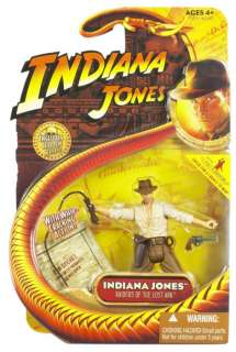 Indiana Jones 3 3/4 Hasbro action figure Indiana w/ whip MOC