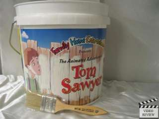 Paint Bucket & brush with 3 little pigs* Tom Sawyer VHS