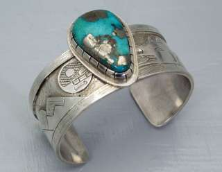 Northwest Coast Tlingit Terrence Campbell Morenci Turquoise Sterling