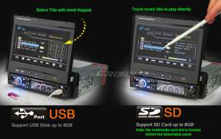 ES812G ERISIN 7 1 DIN DETACHABLE HD CAR STEREO PLAYER GPS BLUETOOTH