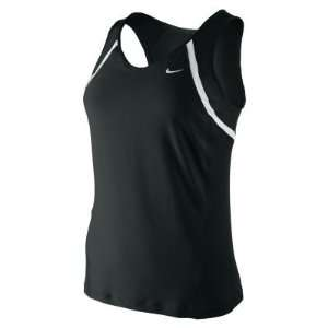 Nike womens border Tank Top Sports Bra Shirt Black