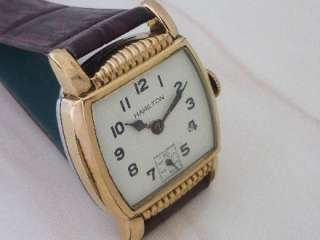 vintage HAMILTON SUB SECOND GOLD PLATED WINDING MENS SWISS WATCH
