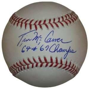 MLB St. Louis Cardinals Tim McCarver 64 67 Champs Autographed