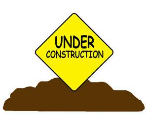 CONSTRUCTION ZONE TRUCK NURSERY BABY BOY WALL BORDER STICKERS DECALS