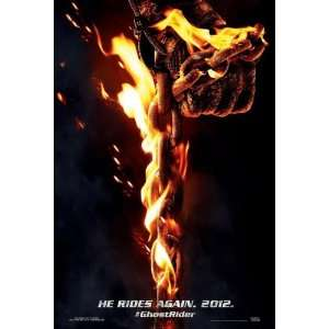 Ghost Rider 2  Spirit Of The Vengeance Advance Movie Poster Double