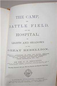CAMP BATTLEFIELD BROCKETT 1866 CIVIL WAR LEATHER BOOK