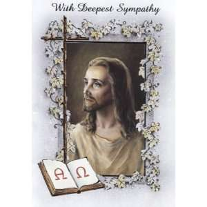 With Deepest Sympathy   Head of Christ Card (SFI SGC1203E