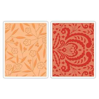 New Sizzix Embossing Folders THICKETS & SWIRLS SET 657399