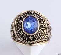 1978 New York Military Academy Syn Blue Spinel Class Ring   10k Gold