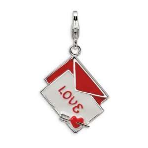 New Amore La Vita Sterling Silver Love Letter Charm with