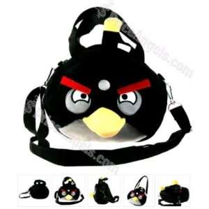 Black Cute Angry Birds Style Soft Plush Shoulder/Handheld