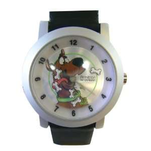 Black Leather Kids Scooby Doo Watch   Scooby Doo Watch