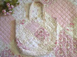 Princess Pink Rose Cotton Quilted Tote Mummy Hand Bag