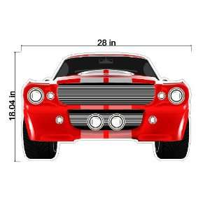 Peel and Stick Muscle Car Decal Sticker Removable Wall Art