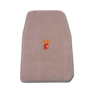 Fit Front Two Piece Floormat with NCAA USC Trojan Logo Automotive