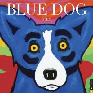Blue Dog 2013 Wall Calendar (9780789325242): George