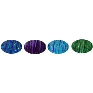 Green, Shiny Light Blue, Sizzling Royal Blue + Hair Art PIn Tail Comb