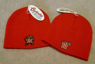 MARYLAND TERRAPINS Winter Knit Red Beanie Skull Cap / Hat NEW
