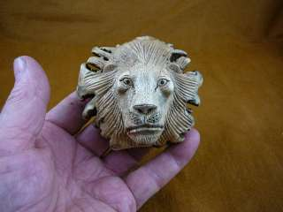 HEAD PARASITE WOOD carving FIGURINE I love wild lions big cats