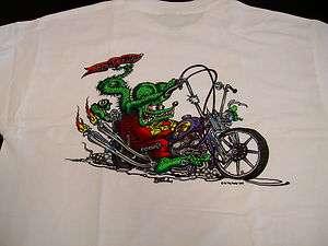 BIG DADDY ROTH RAT FINK CHOPPER MOTORCYCLE RAT ROD ROCKABILLY T SHIRT