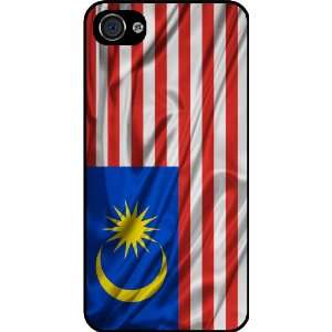 Rikki KnightTM Malaysia Flag Black Hard Case Cover for
