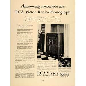 1931 Ad RCA Victor Radio Phonograph Records Nipper Dog