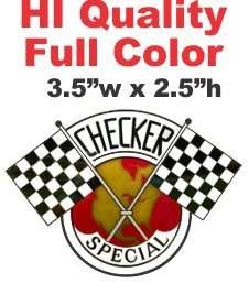 Checker Special Car Cab Taxi Marathon Decal   Nice Full Color