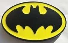 BRAND NEW BATMAN BLACK & YELLOW LOGO METAL BELT BUCKLE