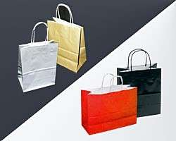 250 Cub High Gloss Paper Bag Red, Black, Silver, Gold