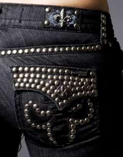 Laguna Beach Jeans Womens BBB Black STUD Bootcut